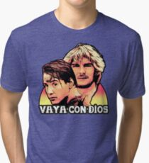 He's Not Coming Back Tri-blend T-Shirt