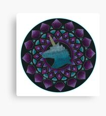 The Power of Unicons Mandala Canvas Print
