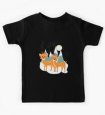 Christmas Festive Whimsical Reindeer Snow Scene Kids Clothes
