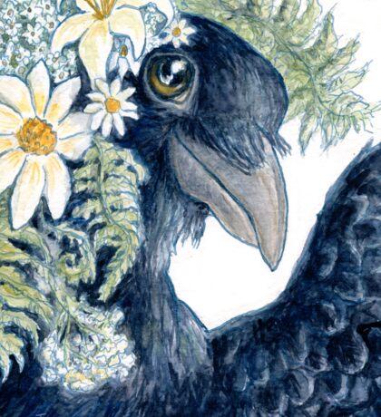 Crow Selfie Sticker