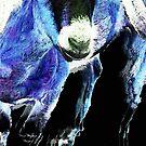 Goat Pop Art - Blue - Sharon Cummings by Sharon Cummings