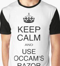 Keep Calm and Use Occam's Razor (light) Graphic T-Shirt
