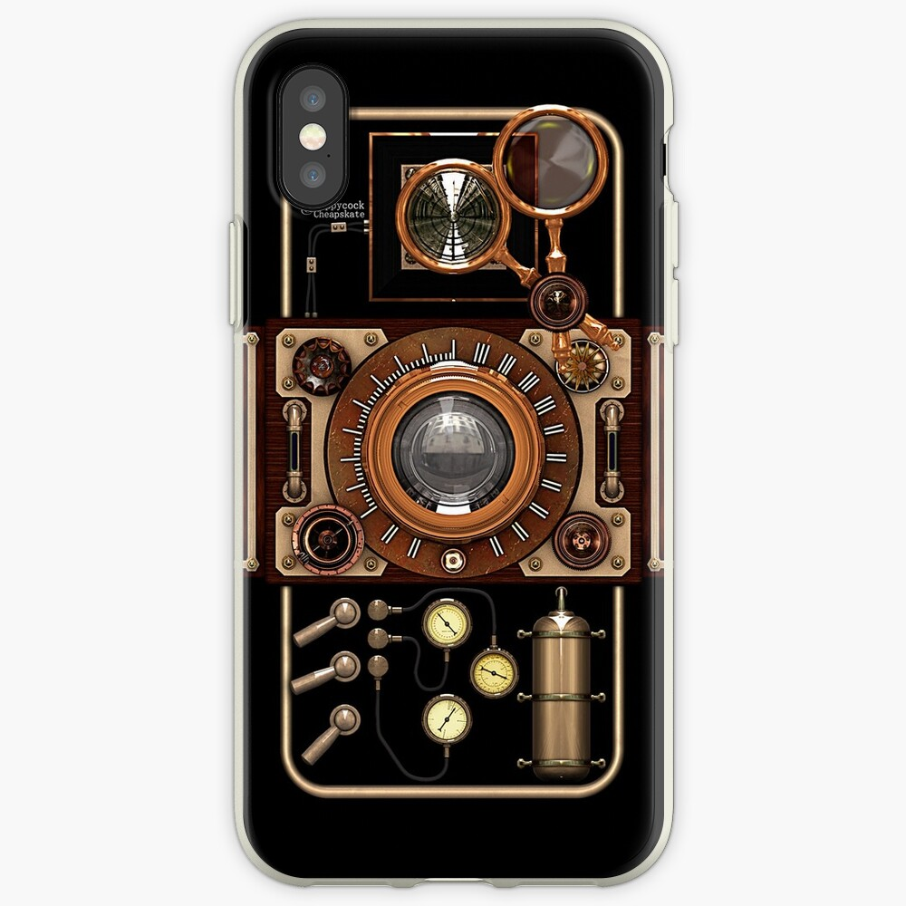 Stylish Steampunk Vintage Camera (TLR) No.2 Steampunk Phone Cases iPhone Case & Cover