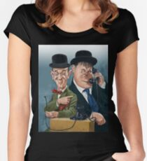 Laurel & Hardy Women's Fitted Scoop T-Shirt