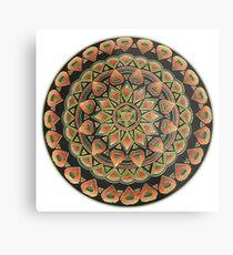 Earth Mandala Metal Print