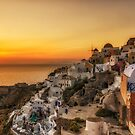 Magic sunset in Oia Santorini by george papapostolou
