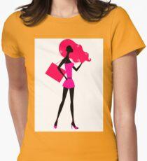 Fashion woman silhouette : original vintage hand-drawn Illustration T-Shirt