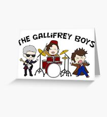 The Gallifrey Boys Greeting Card