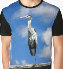 GREAT BLUE HERON Graphic T-Shirt