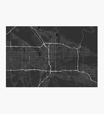 San Bernardino, USA Map. (White on black) Photographic Print