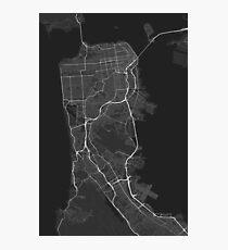 San Francisco, USA Map. (White on black) Photographic Print