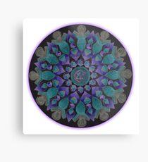 Healing With Angels and Violet Flame Mandala Metal Print
