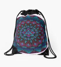 Happy Happy Joy Joy Mandala Drawstring Bag