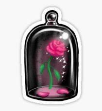 Black Rose Jar Sticker
