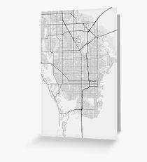 St. Petersburg, USA Map. (Black on white) Greeting Card