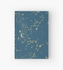 Zodiac Constellations in Neptune Blue Hardcover Journal