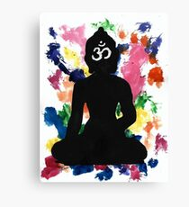 Enlightened Om Buddha Watercolor Canvas Print