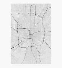 Indianapolis, USA Map. (Black on white) Photographic Print