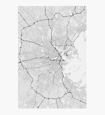 Boston, USA Map. (Black on white) Photographic Print