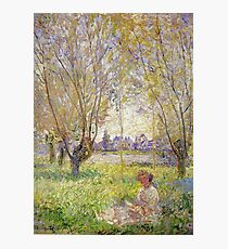 Claude Monet - Woman Sitting Under The Willows Photographic Print
