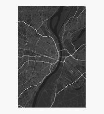 St. Louis, USA Map. (Black on white) Fotodruck