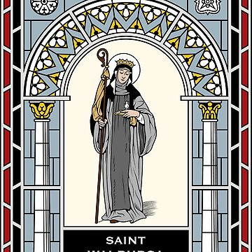 ST WALBURGA under STAINED GLASS by CatholicSaints