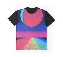 Vaporwave sunset rainbow Graphic T-Shirt