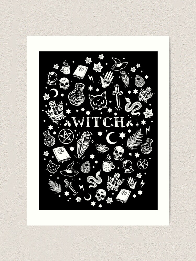 Alternate view of WITCH PATTERN 2 Art Print