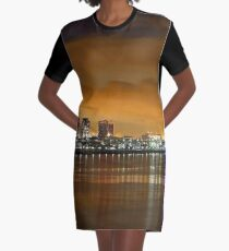 Long Beach California Graphic T-Shirt Dress