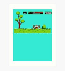 NES duck hunt dog game Art Print