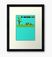 NES duck hunt dog game Framed Print