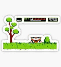NES duck hunt dog game Sticker
