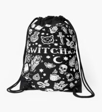 WITCH PATTERN 2 Drawstring Bag