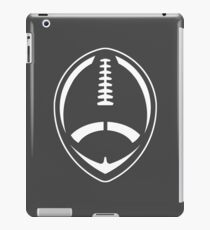 White Vector Football iPad Case/Skin