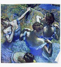 Edgar Degas - Blue Dancers  Poster