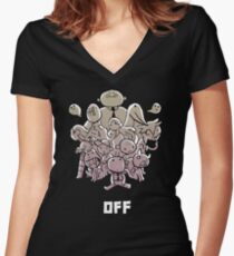 OFF - Chibi Batch Women's Fitted V-Neck T-Shirt
