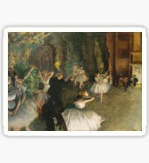 Edgar Degas - The Rehearsal Of The Ballet Onstage 1874 Sticker