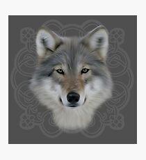Wolf and saxon motif large image Photographic Print