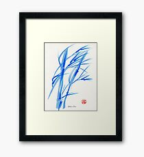 SOFT BREEZE - Original watercolor ink wash painting Framed Print