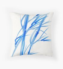 SOFT BREEZE - Original watercolor ink wash painting Throw Pillow