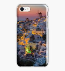 Oia colorfull night Santorini iPhone Case/Skin