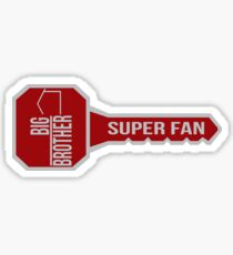 Big Brother All Star Key SUPER FAN Sticker