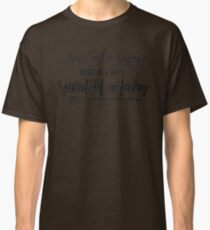 Soul of a gypsy Heart of a hippie Spirit of a fairy Vintage Inspirational text Classic T-Shirt