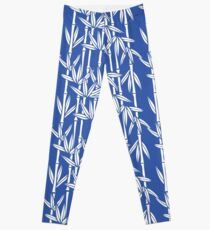 Bamboo Rainfall in China Blue/Seashell White Leggings
