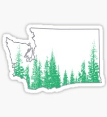 Evergreen State Outline Sticker