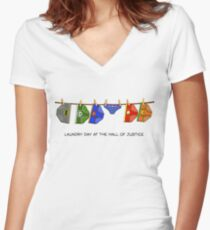 Laundry Day Women's Fitted V-Neck T-Shirt