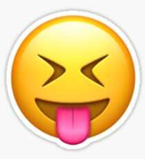 Emoji Tongue Closed Eyes Sticker