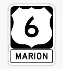 US 6 - Marion Massachusetts Sticker