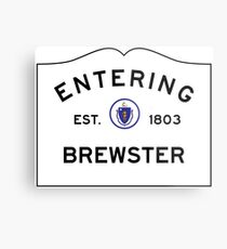 Entering Brewster - Commonwealth of Massachusetts Road Sign Metal Print
