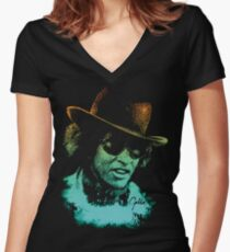 The Mack (Max Julien / Goldie) Women's Fitted V-Neck T-Shirt